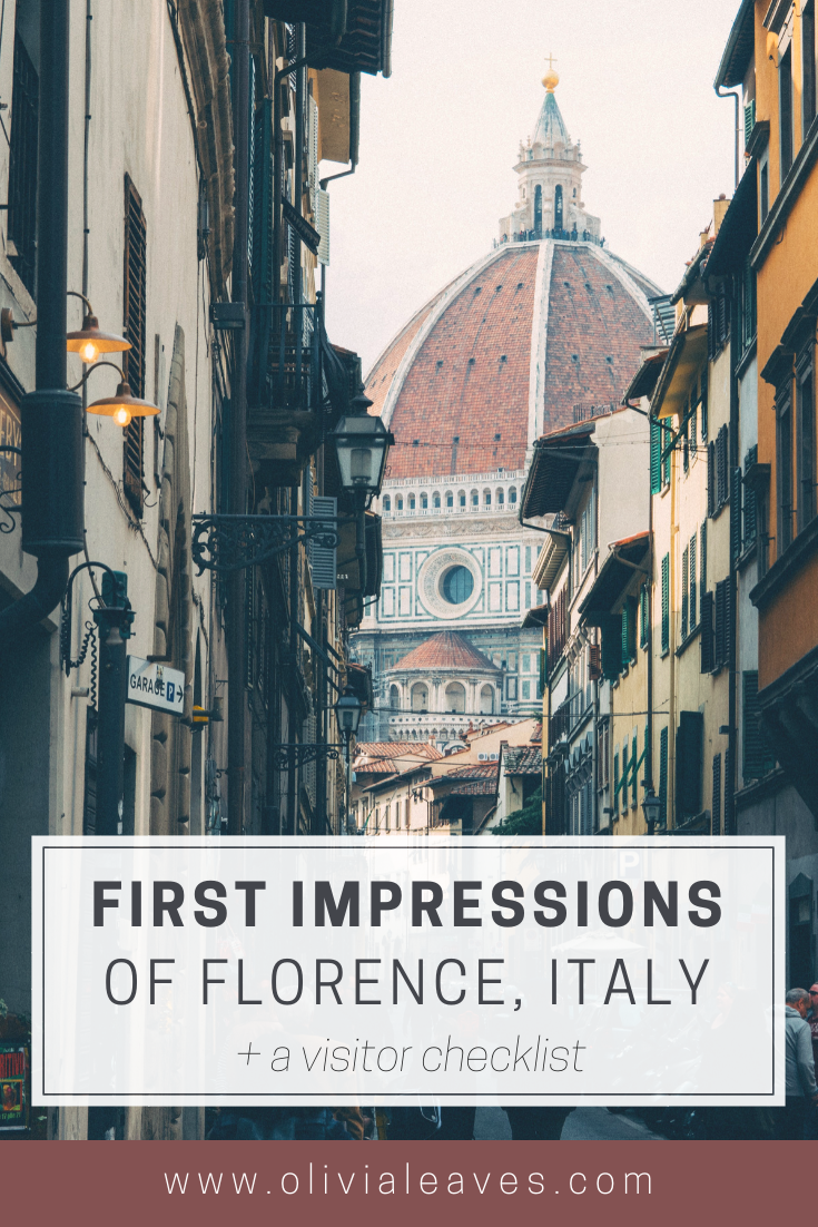 A Visit to Florence Italy | OliviaLeaves.com