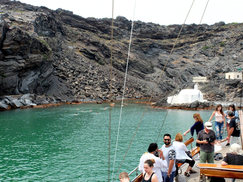 Olivia Leaves - Santorini Volcano